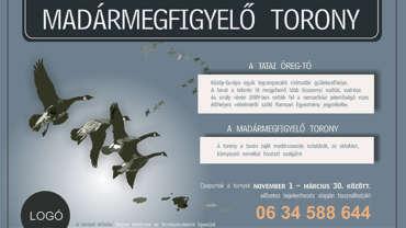 ILYEN IS LEHETNE – Tata Madármegfigyelő torony tábla