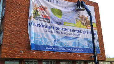 Óriás méretű épületháló tervezés, gyártás, szerelés – Eurofins Technologies