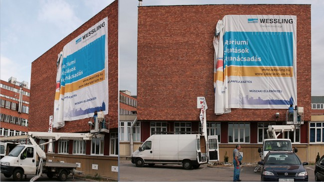 Wessling Kft. 13x8 méter épületháló nyomtatása
