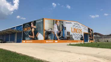 LINCOS épületháló nyomtatás és felhelyezés 2 hét alatt